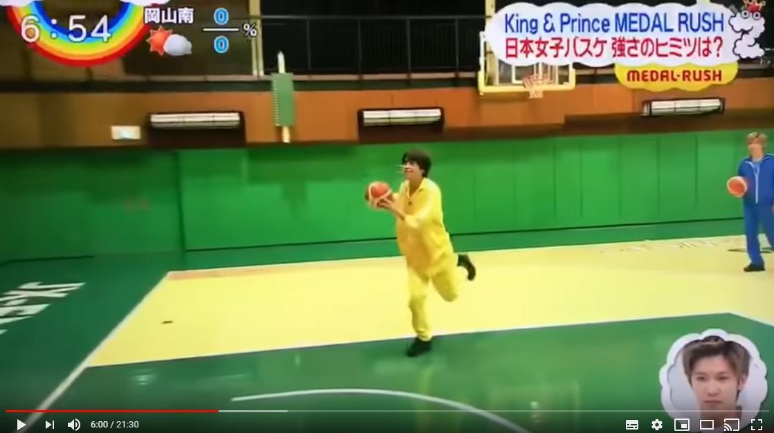 高橋海人のバスケシュートで持ち前の運動神経を発揮
