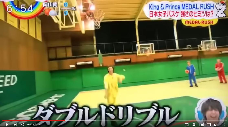 高橋海人のバスケシュートで持ち前の運動神経を発揮できず
