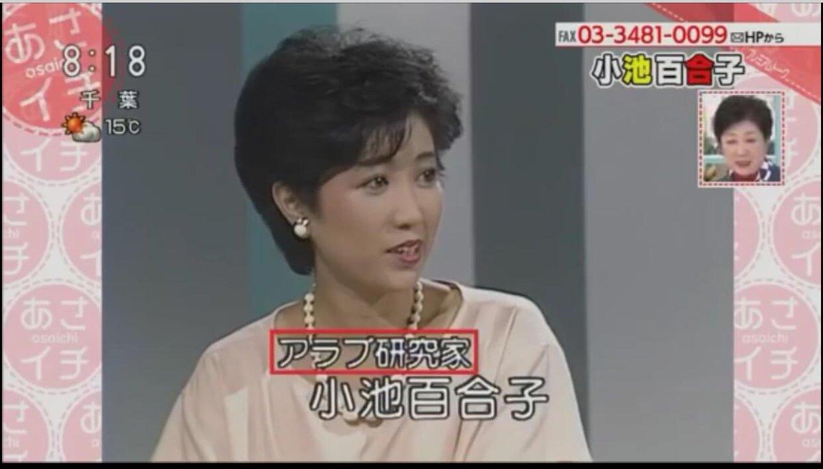 小池百合子のアナウンサー時代の画像