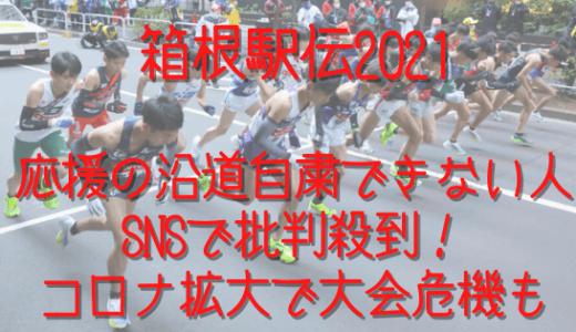 箱根駅伝で応援自粛要請も沿道に人ごみ多い!SNSで批判殺到