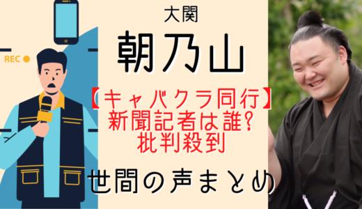 朝乃山キャバクラは新聞記者に誘われた?ネットで記者に批判殺到