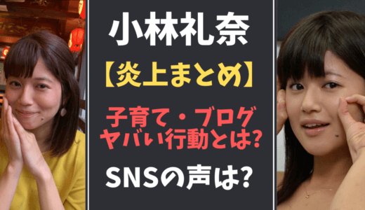 小林礼奈のヤバい行動・子育て『炎上まとめ』SNSでの攻防戦!
