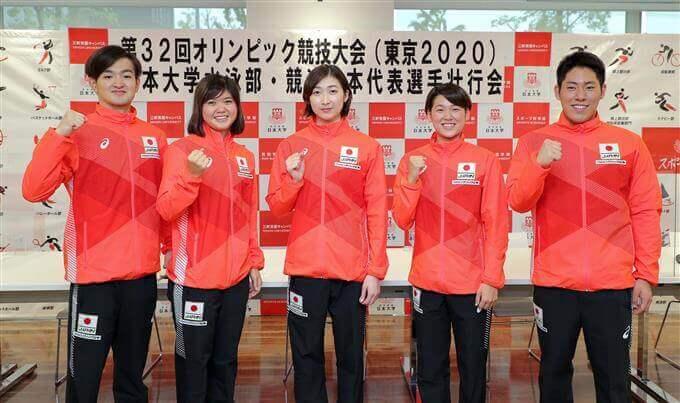 池江璃花子の大学 日本大学水泳部オリンピック代表 日本大学水泳部壮行会