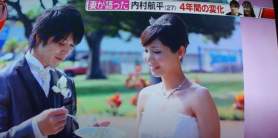 内村航平・千穗夫妻の結婚式写真