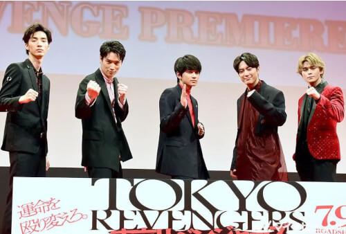 眞栄田郷敦が映画『東京リベンジャーズ』のイベント時に登壇した時の画像
