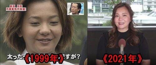 華原朋美の1999年と現在の顔比較画像