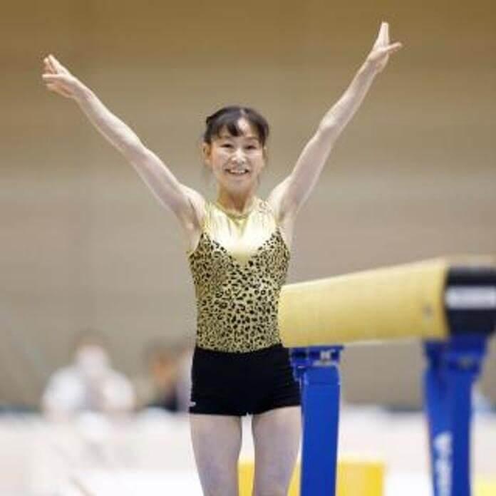 内村航平の母親・周子さんの体操競技中の写真