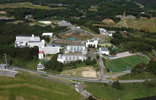 暁星国際学園を上から撮った写真画像