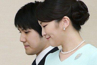 小室圭さんと眞子さまの横顔を写した画像