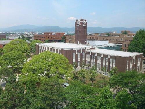 京都大学を上から撮った写真画像