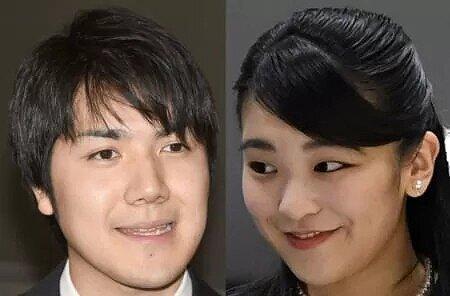 小室圭さんと眞子さまの写真が並んでいる画像
