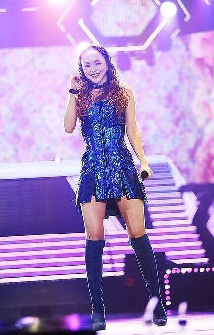 安室奈美恵さんのライブ中での画像