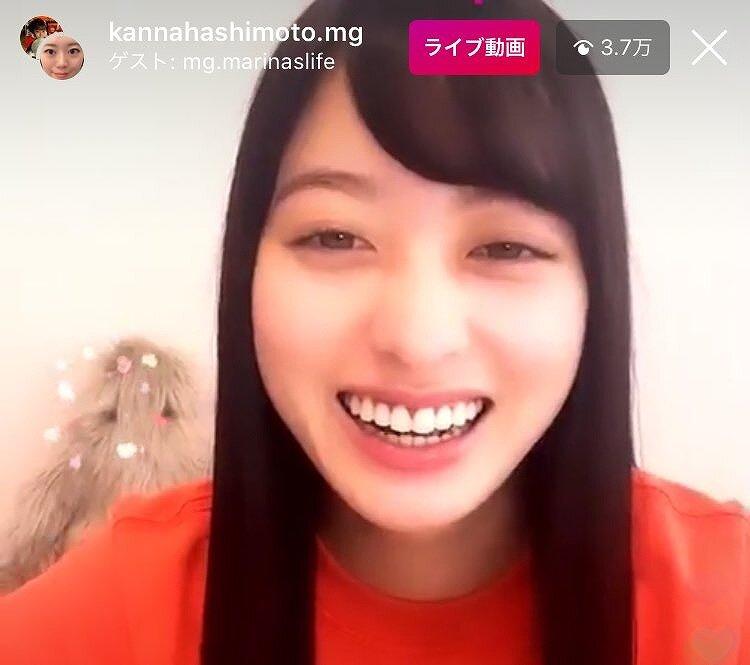 橋本環奈インスタライブの画面画像